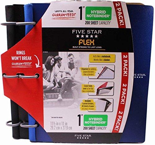 Five Star Flex 1 Hybrid Notebinder 11.5 X 11 Inch (Blue