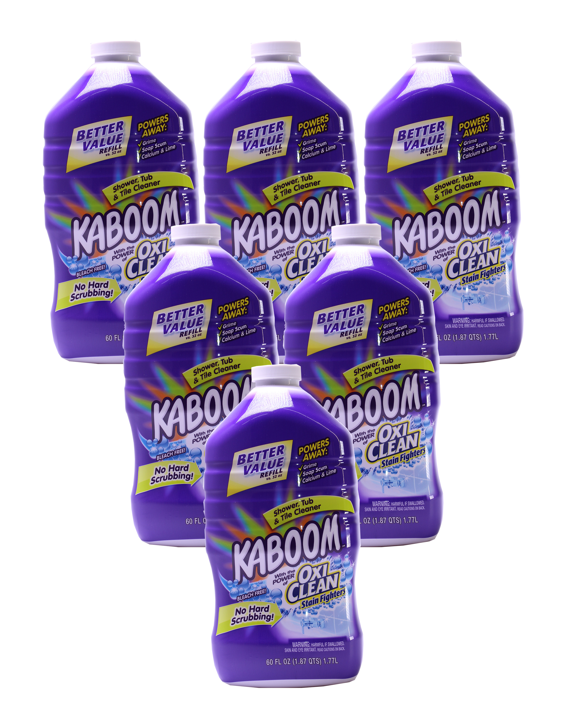 6 Count Kaboom Oxiclean Stain Fighters Shower Tub Amp Tile